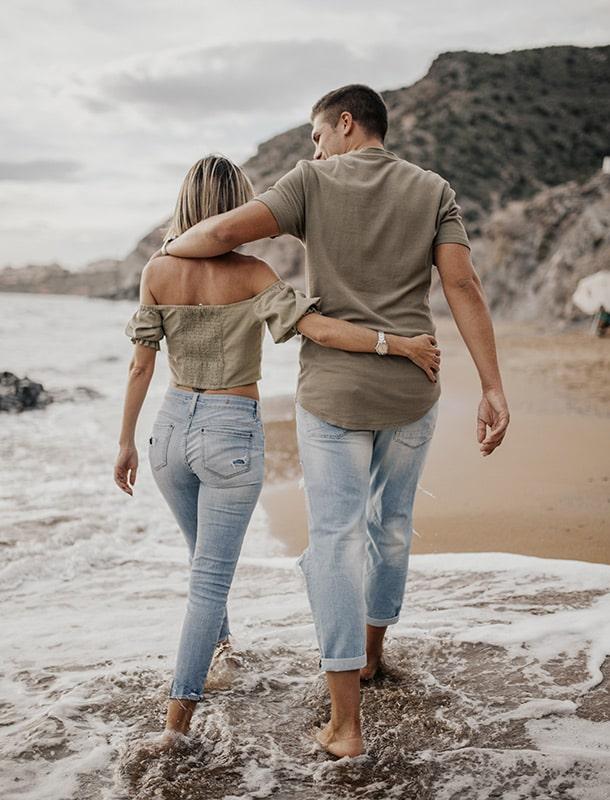 fotos de preboda en la playa