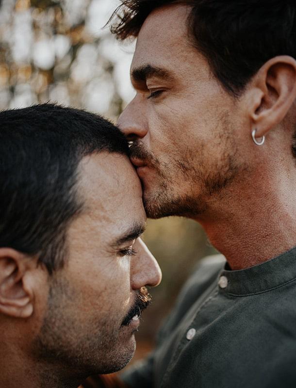 sesión de fotografía gay