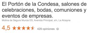 Opiniones Portón de La Condesa