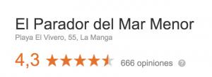 Opiniones restaurante playa Murcia