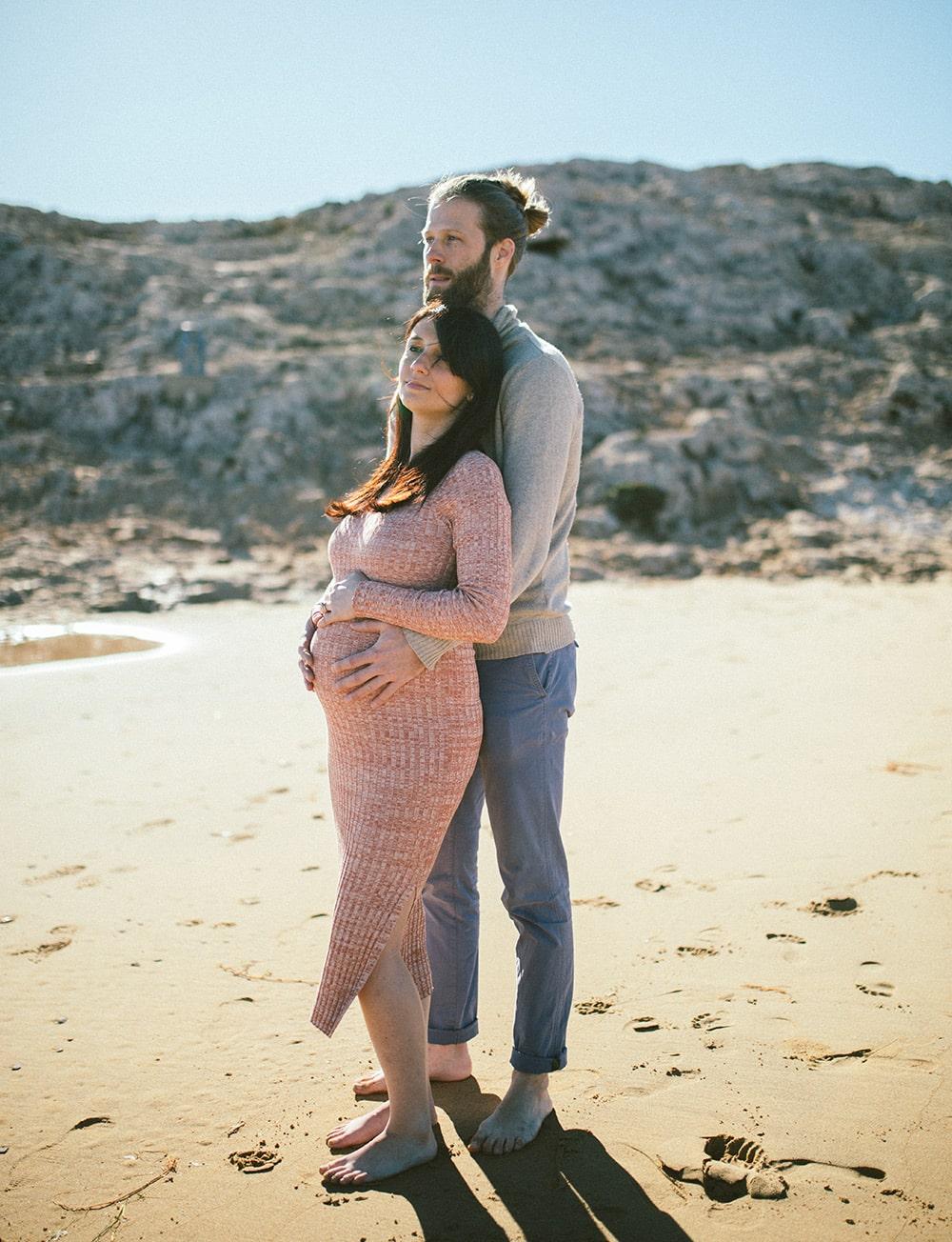Fotografía embarazada Calblanque