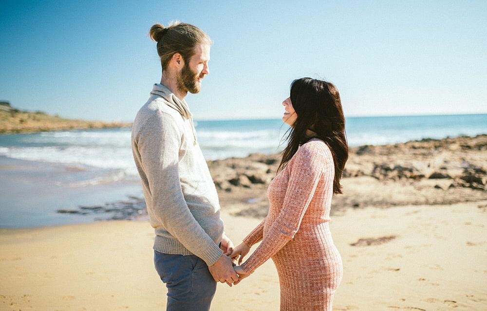 embarazada playa Murcia