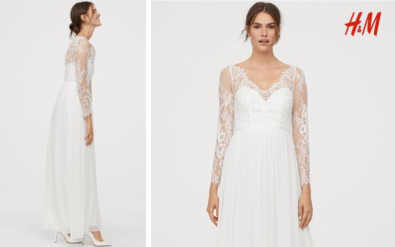 vestido novia H&M