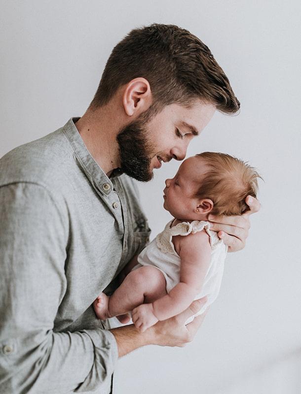 fotografía bebé y papá