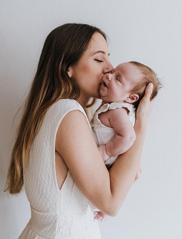 fotografía mamá y bebé